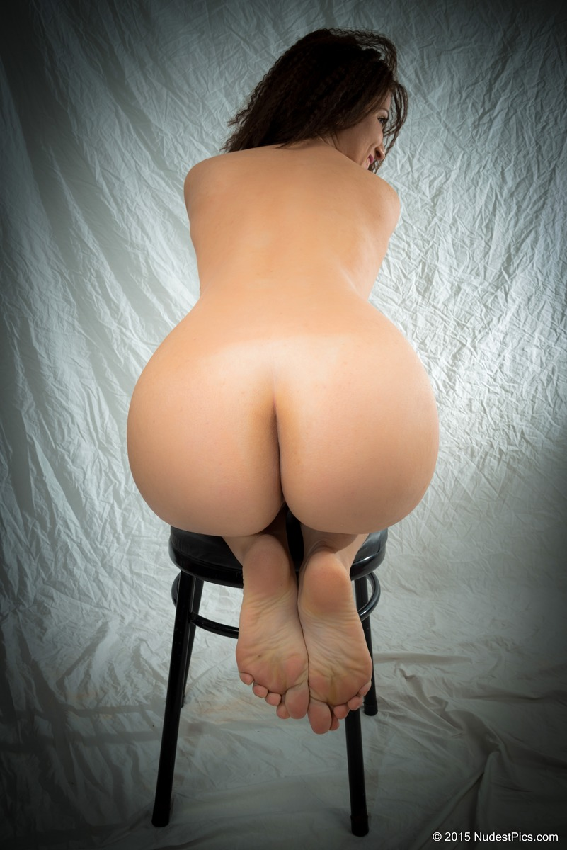 Plump Girl's Bare Butt