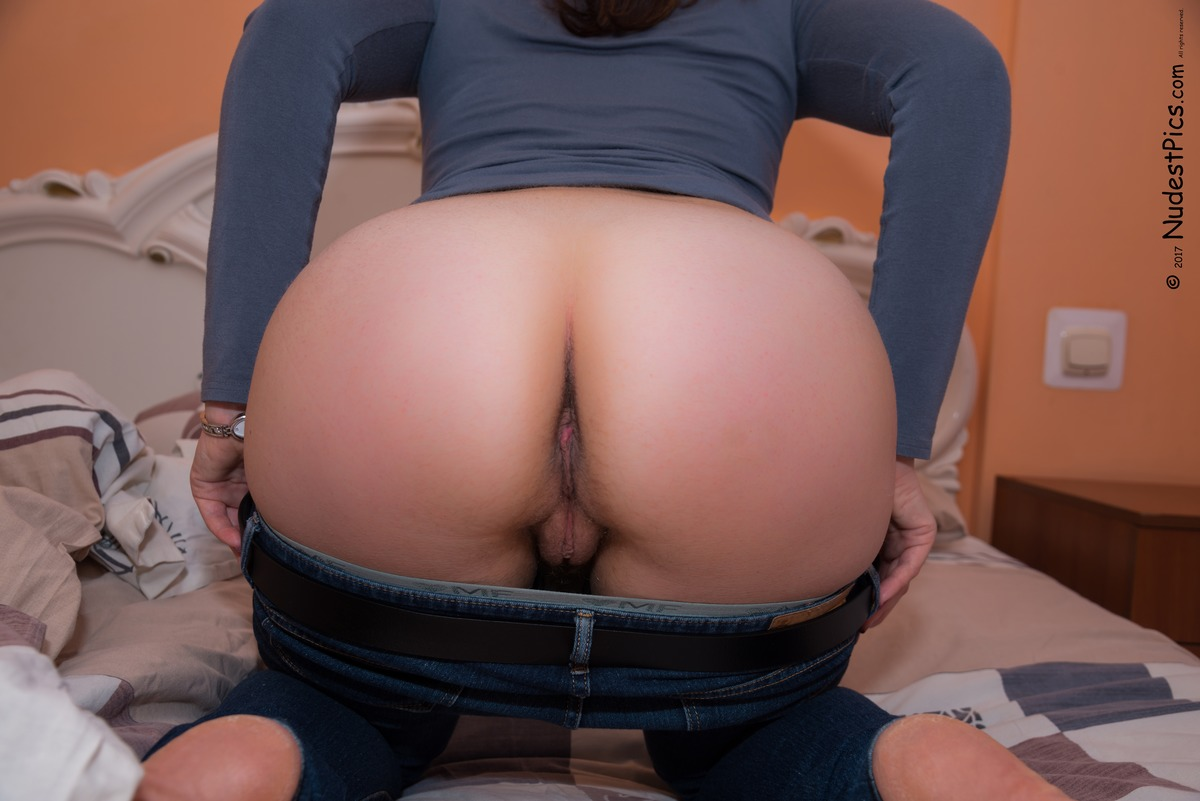Big Hairy Mature Woman's Ass Undressing