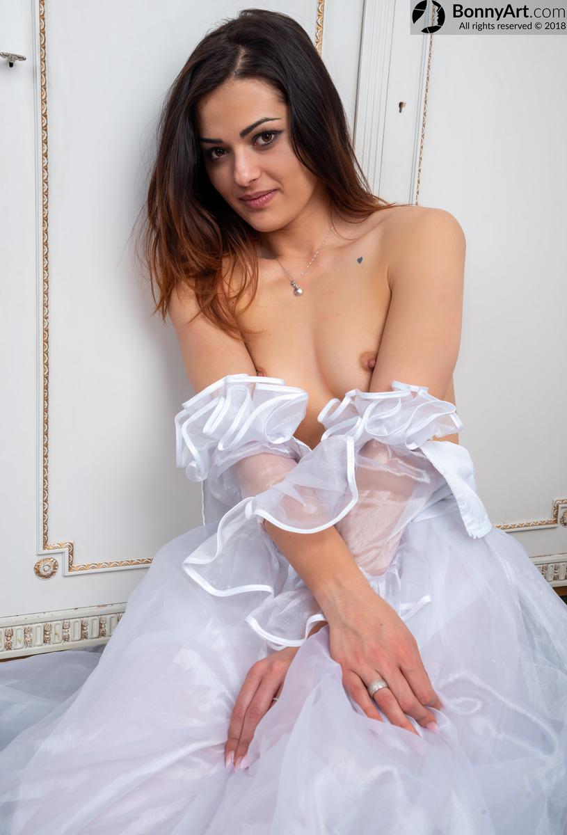 Shy Bride Undressing Boobs
