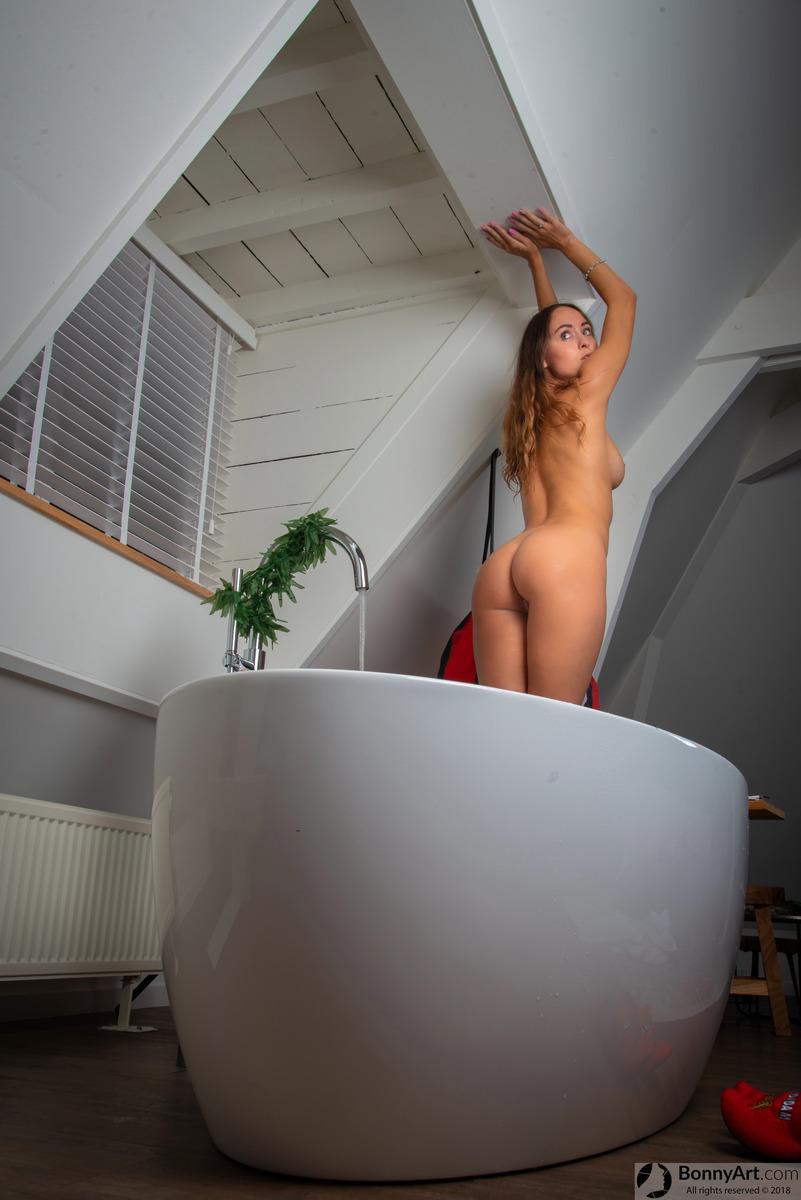 Bath Spying on Beautiful Nude Girlfriend