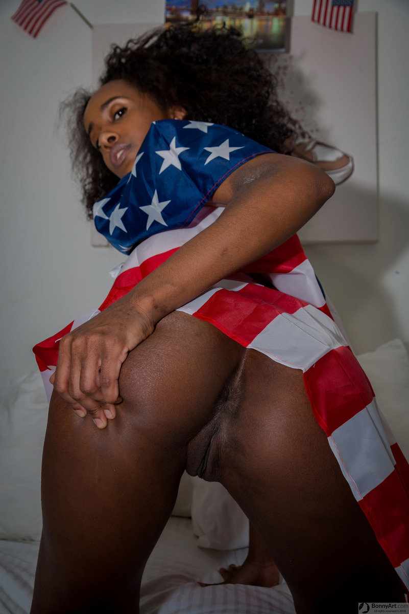 4th of July USA Flag Black Ass Spreading
