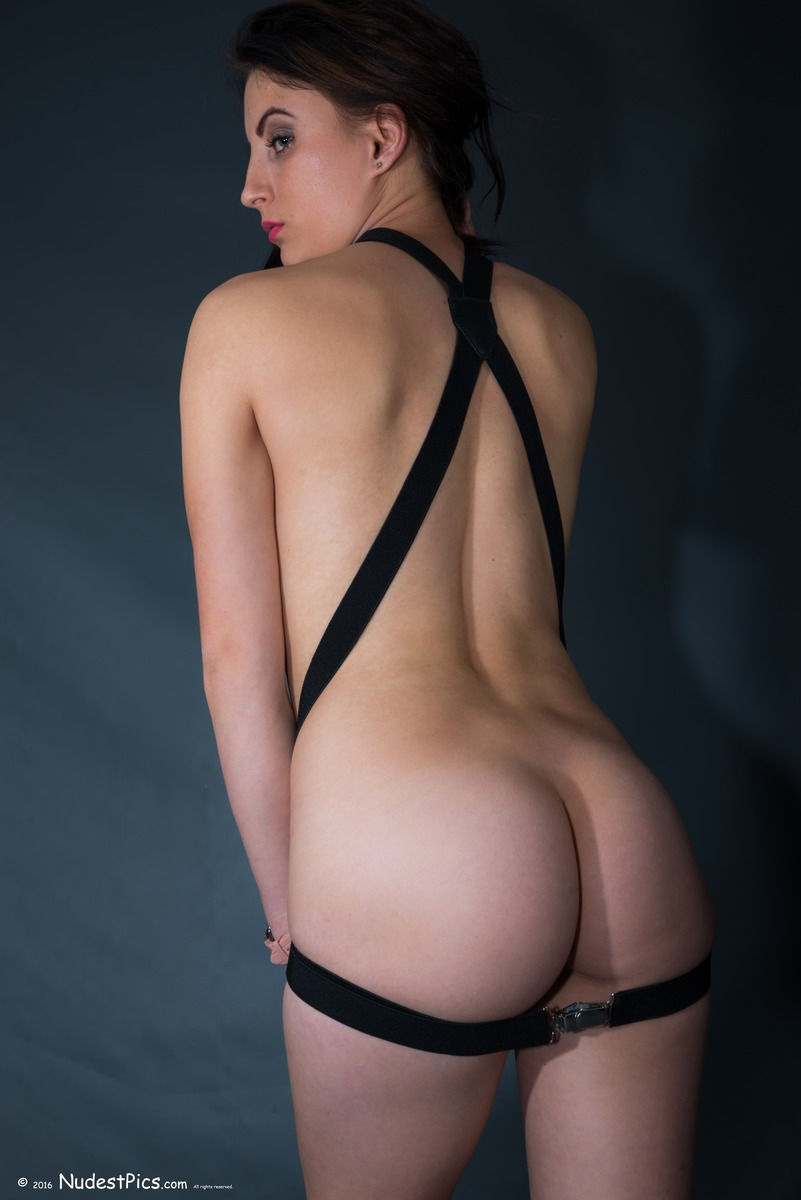 Black Suspenders on White Girl's Back