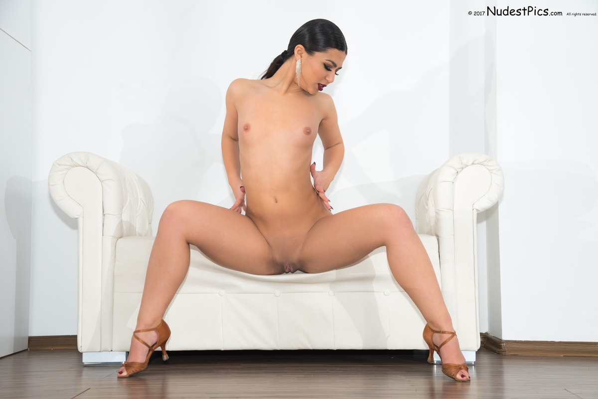 Salsa Dancer Naked on the Couch