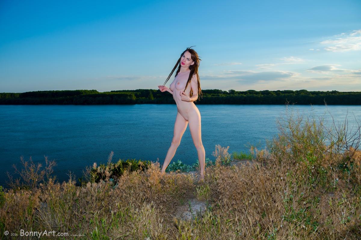 Naked Elf-Like Girl on the Tall Shore