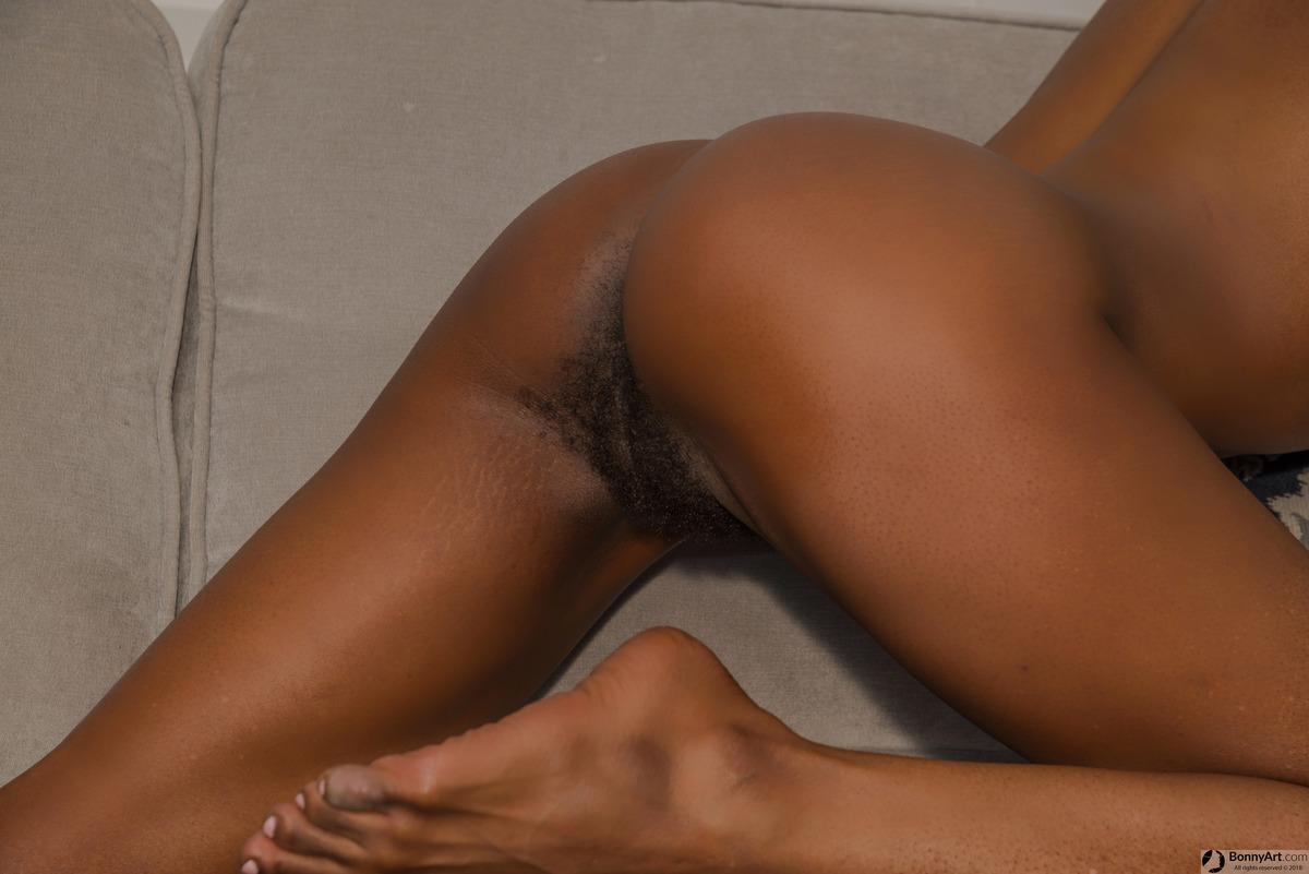 Small Afro Bottom Reveals Bushy Pubes