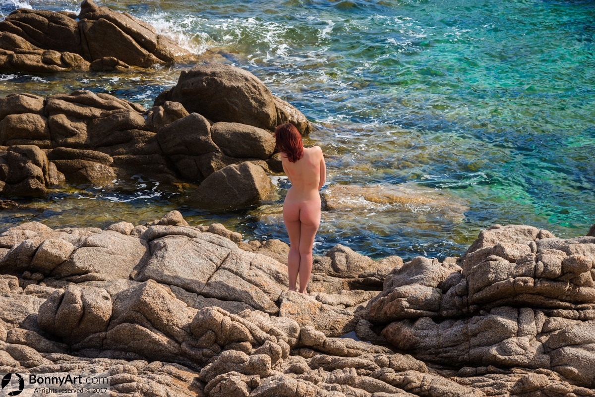 Spying on Nudist Girl Rocky Coast