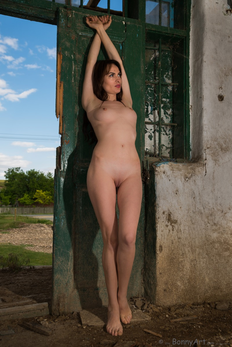 Hot Naked Country Girl in Mud House
