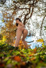 Nude Young Latina Girl Ass Spreading in the Forest